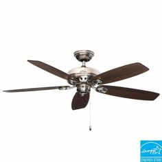 Hunter Markham 52 in. Indoor Brushed Nickel Ceiling Fan