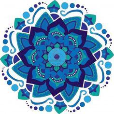 Mandala Colorful-Round. As azuis me chamam mais atenção, é a cor da minha decoração.