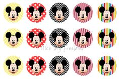 Freebies: Mickey Mouse bottlecap images / FREE bottle cap images