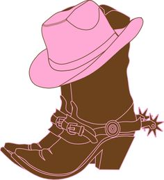 Cowgirl Boots N Pink Cowgirl Hat Iron on Heat Transfer, 10 by For White Material - deal michael kors Brown Cowgirl Boots, Cowboy And Cowgirl, Cowgirl Baby Showers, Line Dance, Cowgirl Party, Horse Party, Clips, Cowgirls, Westerns
