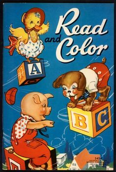 Uncolored Read AND Color 3454 Merrill 1939 2700