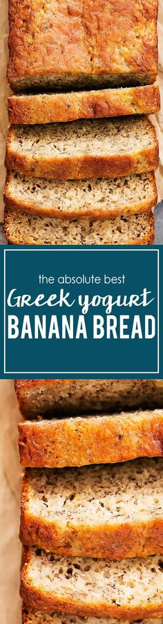 Super moist and perfectly flavorful banana bread made with Greek yogurt! This is it people. This is my absolute favorite, perfect banana… Best Greek Yogurt, Greek Yogurt Banana Bread, Yogurt Bread, Siggis Yogurt, Kids Yogurt, Yogurt Popsicles, Yogurt Smoothies, Yogurt Parfait, Plain Yogurt