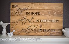Romans 12 12 Hand Painted Wood sign by AmandaGdesigns on Etsy, $80.00