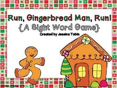 Freebie Sight Word game for Gingerbread theme and Christmas