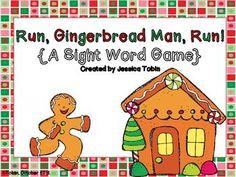 Run, Gingerbread Man, Run! A FREE Sight Word Game