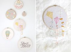 instead of stitching, hand stamping images and layer