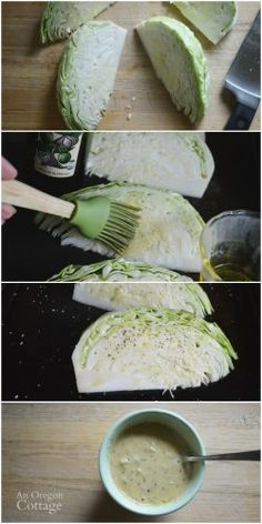 Making Roasted Cabbage Wedges