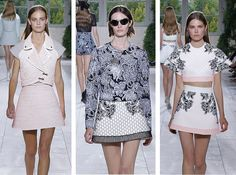 Which of #Balenciaga outfits at the #Paris #FashionWeek do you prefer? My favorite is the #pink on the left!  #pfw #floral #fashion #trends #ss14 #mscblog