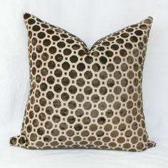 brown geo velvet pillow