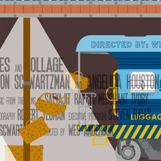 PRINT // Wes Anderson Movie Poster Triptych by Alan Segama, via Behance