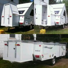 A creative A-Frame owner made a pop up bathroom to go with their hardsided & A Frame camper with Tent Awning | Accessories for Aliners PopUps ...