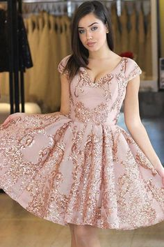 20387fcf363 A-Line Princess Short Sleeves V-neck Prom Dresses V Neck Prom Dresses