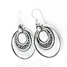 Bijoux Ethniques orientales Boucles d'oreilles créateur ronde en Argent 08 Laoula.