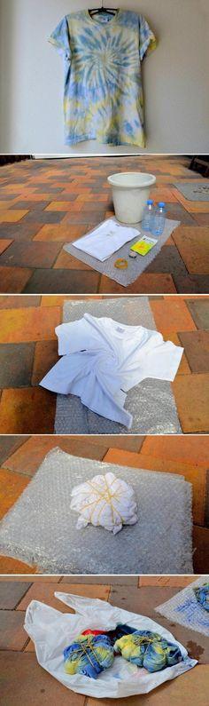 Dyeing for Fun: DIY Fashion Tie Die DIY – How to make a Tie Die T-Shirt