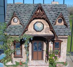 Custom Styled Dollhouse Kits: Cynthia's Wisteria Dollhouse Cottage