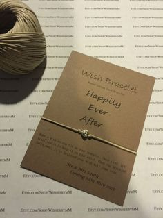 Wish Bracelet made from 12in Waxed Cotton Cord -with personalized 4.5 x 3.5 Kraft Stock Paper - FAVORS - GIFTS by WishesbyMM on Etsy https://www.etsy.com/listing/220332012/wish-bracelet-made-from-12in-waxed