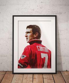 A geometric illustration of the football legend at Man United, Eric Cantona.