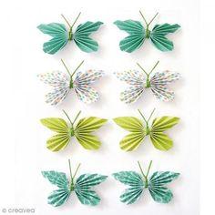 Pegatinas 3D - Mariposa - 25 mm - 8 uds - Fotografía n°1