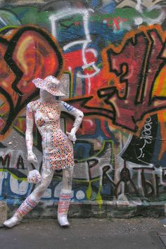 Bag Lady in the Alley by Ruby Re-Usable 2006