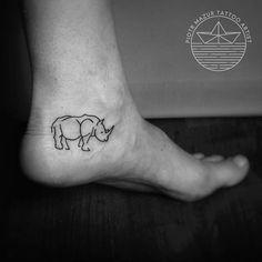 #piotr_mazur_tattoo #tattoo #minimal #minimaltattoo #tiny #tinytattoo #rhino #rhinotattoo #animaltattoo