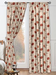 Alya Warm Spice Curtains from Curtains 2go