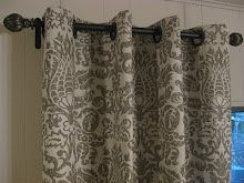 No sew curtains - Wash your fabric first so there will be no short curtains later.