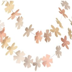 DIY Floral Garland- you can save yourself some time and buy a kit at PaperSource for $11.95 #garland #party #wedding #decoration