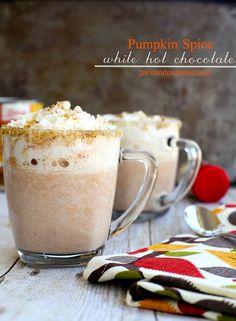 Pumpkin Spice White Hot Chocolate | picsandpastries