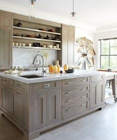 wonderful finish on the  cabinetry.