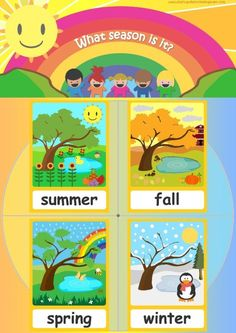 Seasons flashcards - Teach seasons - FREE Flashcards & Posters!