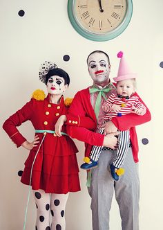 family of clowns