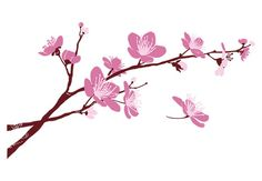 cherry blossom branch wall decal beautiful floral vinyl decor tree drawing