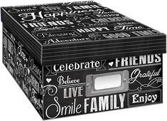 Archival photo boxes do not have to be dull and only one color, I LOVE this one from Pioneer Photo Albums! #genealogy #archives #affiliate #ad Best Photo Storage, Photo Album Storage, Cd Storage, Paisley Design, Love Design, Large Photos, Cool Photos, Photo Boxes, Photo P