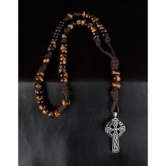 Desert Tiger Military 550 Paracord 5 Decade Rosary made of AAA-Tigers Eye gemstones, holy Sigil stainless cross and has been blessed by the church. Paracord Rosary, 550 Paracord, Tigers Eye Gemstone, Tiger Eye Beads, Hail Mary, Deserts, Military, Gemstones, Silver