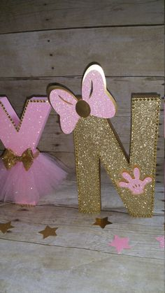 Oro y rosa Minnie Mouse Party partido de por HeidiPartyCreations