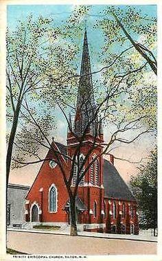 Tilton New Hampshire NH 1920s Trinity Episcopal Church Antique Vintage Postcard