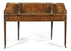 A Regency mahogany carlton house desk early 19th century minus the wheels
