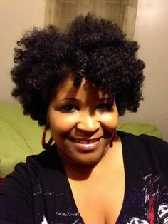 Cute Short Black Curly Hairstyle