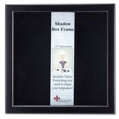 Proudly display mementos with the sleek design of the Lawrence Frames Shadow Box Picture Frame . It's offered in your choice of available sizes and colors. Shadow Box Picture Frames, Wood Shadow Box, Picture On Wood, Black Picture, Display Boxes, Black Wood, Frames On Wall, Poster Frames
