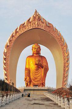 World's highest Amitabha Buddha statue