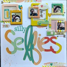 #papercrafting #scrapbook #layout - love this!