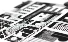 Editions - Esther Cox 'City' screen print Screen Printing, City, Prints, Screenprinting, City Drawing, Cities