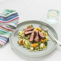 Sumac Lamb with Roast Pumpkin and Spinach Couscous