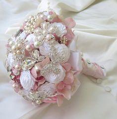 Bridal Brooch Bouquet  Wedding Bridal Bouquet  Pink by BoHoBridal, $350.00