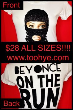 AVAILABLE IN DIFFERENT COLORS!!! Available from Hye Maintenance Fashions Call/Text/Inquire Trina at 630.340.1802-Chicago or 678.665.0300-Atlanta or order online at www.toohye.com #hye #hyemaintenance #hyemaintenancefashions #Beyonce #jayz #ontheruntour #ontherun #concert #customized #mask #touring #sexy #london #unitedstates #atlanta #chicago #miami #fresh #couple #entertainment #texas #houston #television #bus #jet #money #dance #group #essence #pleasure #anxiety #tees #humble #soldout…