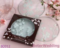 Vente en gros Wedding givrée de Favor_Wedding Gift_BeterWedding des caboteurs en verre de « fleurs de cerise » de BD012_ (200pcs, 100set)