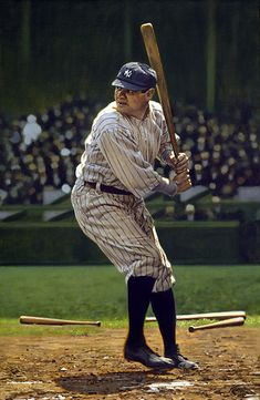 Babe Ruth became the all-time home run leader when he hit his career blast as a major leaguer passing Roger Connor's career mark of Baseball Star, New York Yankees Baseball, Ny Yankees, Baseball Cards, Damn Yankees, Dodgers Baseball, Football, Famous Baseball Players, Mlb Players