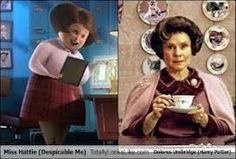 The lady social worker person from despicable me and prof. Umbridge from Harry Potter