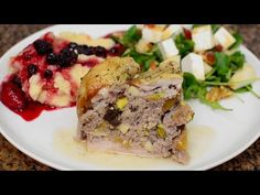 YouTube Queso, Pork, Meat, Youtube, Videos, Christmas, Pear Salad, Salads, Plate