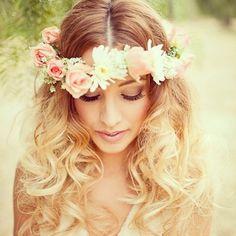 gorgeous floral head piece
